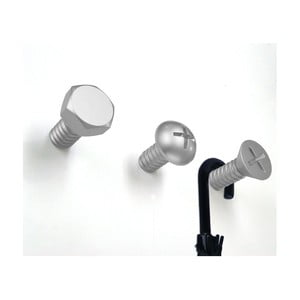 Wieszaki Screw Collection, srebrne