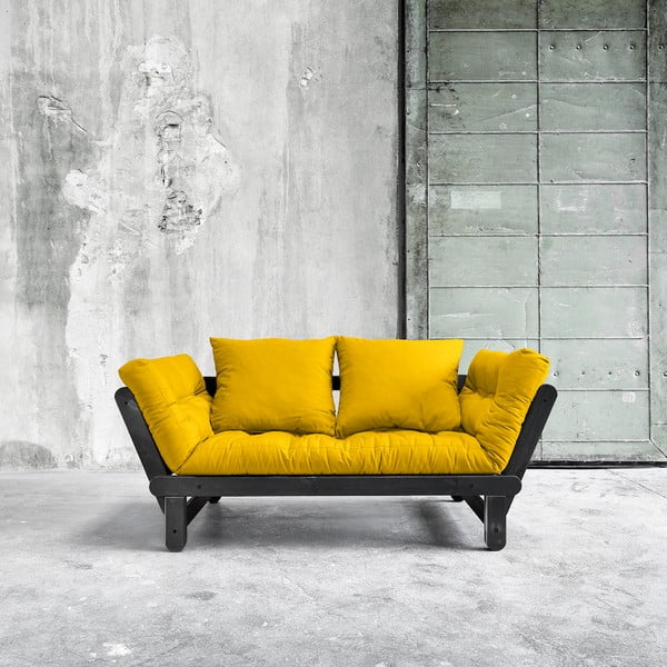 Sofa rozkładana Karup Beat Black/Amarillo