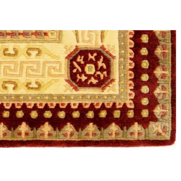 Dywan wełniany Bakero Vanilla/Red, 170x240 cm