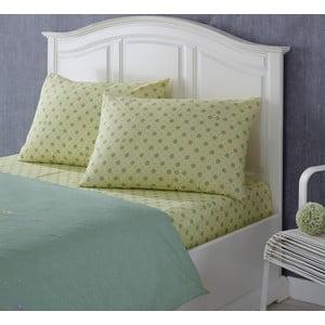 Prześcieradło i poszewka na poduszkę Rainforce Yellow/Green, 100x200 cm
