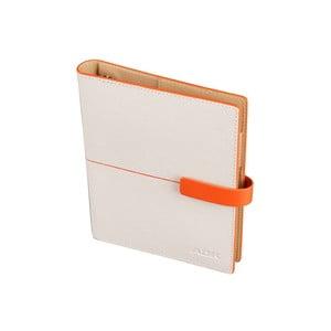 Kalendarz na rok 2016 AKD Linea, biało-pomarańczowy, rozm. A6