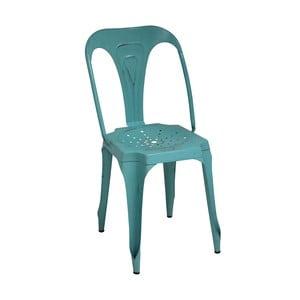 Metalowe krzesło retro Sofian, turkusowe
