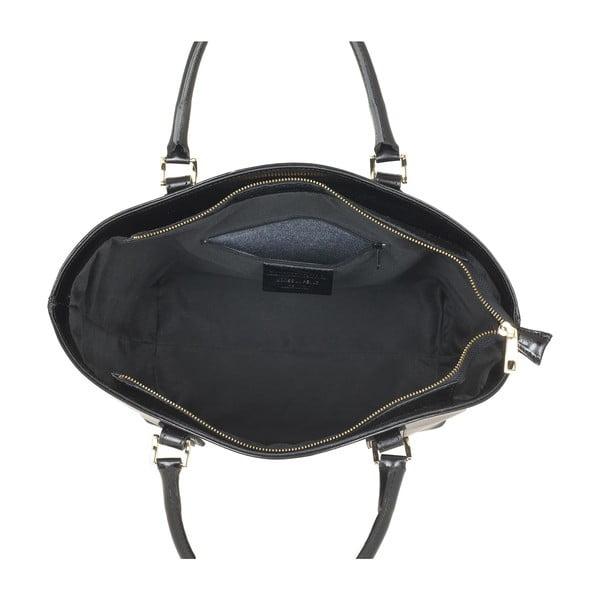 Skórzana torebka Pure Italia, czarna