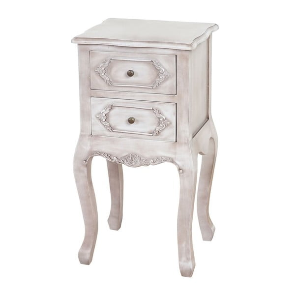 Stolik nocny Baroque Antique White