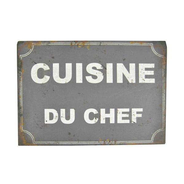 Blaszana tabliczka Cusine Du Chef