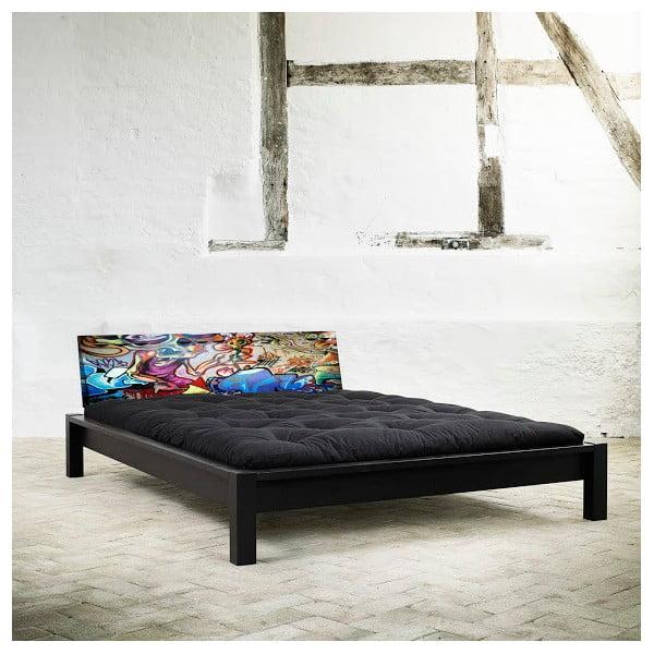 Łóżko Karup Tami Street Art Black/Graffiti Multicolor