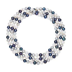 Biało-niebieski   perłowy naszyjnik Chakra Pearls, 90 cm