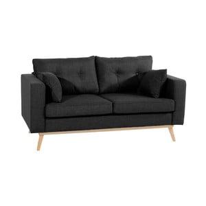Czarna sofa dwuosobowa Max Winzer Tomme