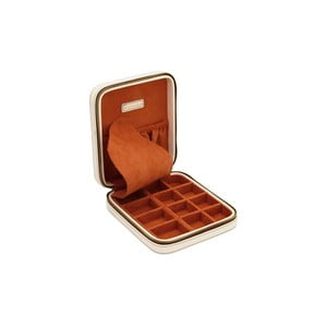 Jasnobeżowe pudełko na biżuterię Ascot