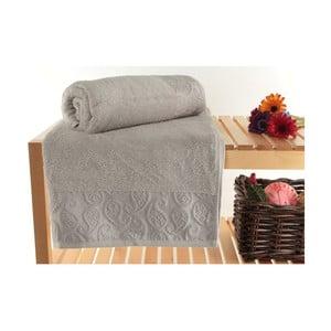 Zestaw 2 ręczników Sal Grey, 90x150 cm