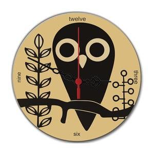 Zegar ścienny Owl, 30 cm
