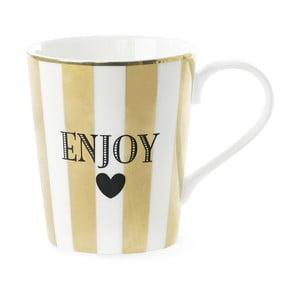 Kubek ceramiczny Miss Étoile Coffee Enojy Stripe Gold
