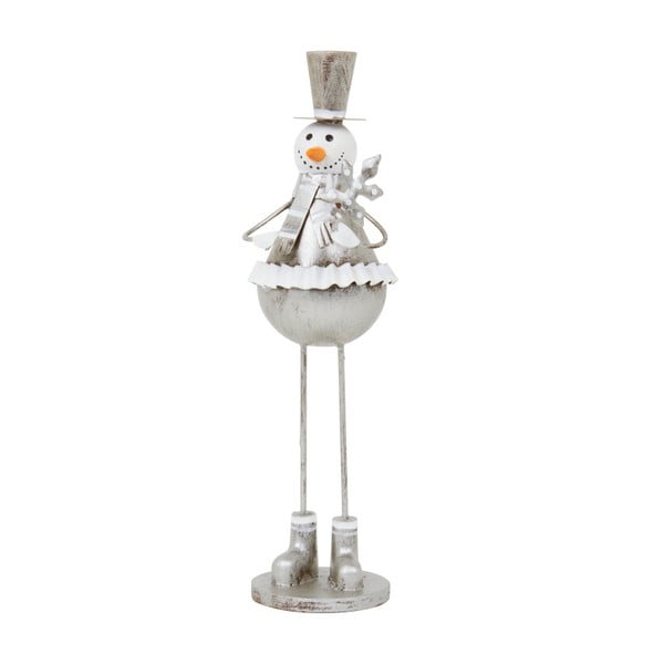Dekoracja Archipelago Silver Bell Snowman, 26 cm