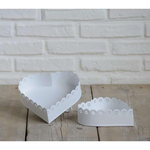 Komplet 2 misek w kształcie serca Bianco