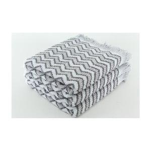Zestaw 3 ręczników Lora Steel, 50x100 cm