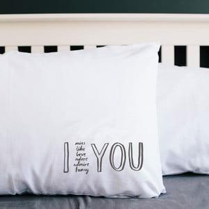 Poszewka na poduszkę I Adore You, 50x70 cm