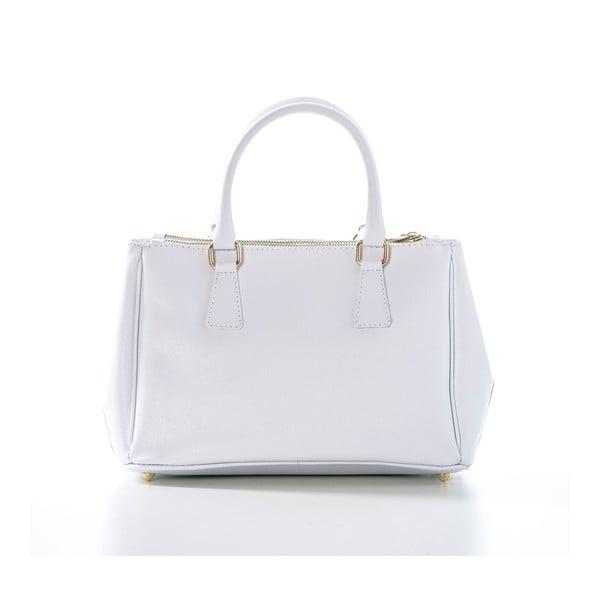 Biała torebka skórzana Federica Bassi Saffi