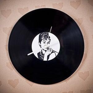 Winylowy zegar Audrey Hepburn