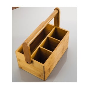 Pojemnik z bambusu na przybory kuchenne/sztućce Bambum Tetra