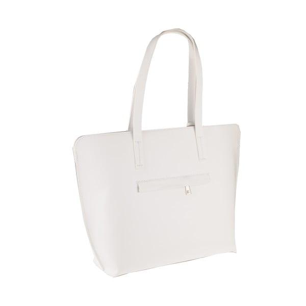 Skórzana torebka Vega, biała