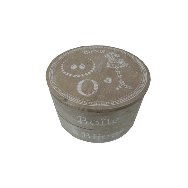 Okrągła szkatułka na biżuterię Antic Line Bijoux