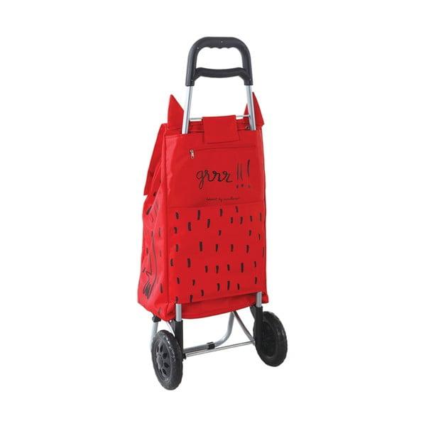 Torba na zakupy na kółkach Monter Red