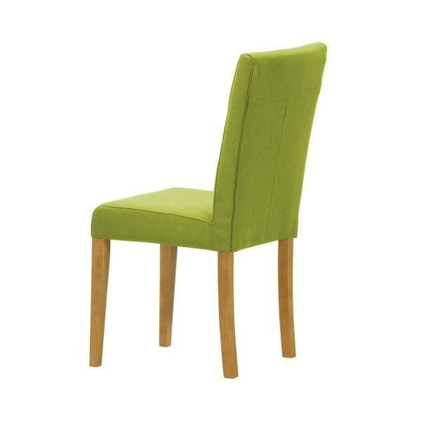 Komplet 2 krzeseł Monako Etna Green, naturalne nóżki