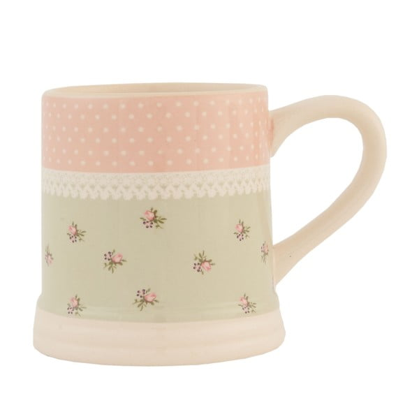 Ceramiczny kubek Clayre & Eef Roses, 270 ml