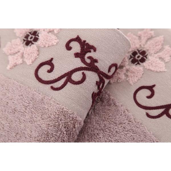 Zestaw 3 ręczników Cicek Hazelnut