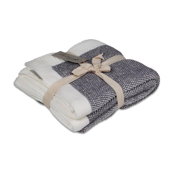 Ciemnoszary bawełniany koc Couture