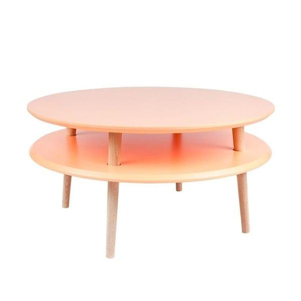 Pomarańczowy stolik Ragaba UFO Ø 70 cm