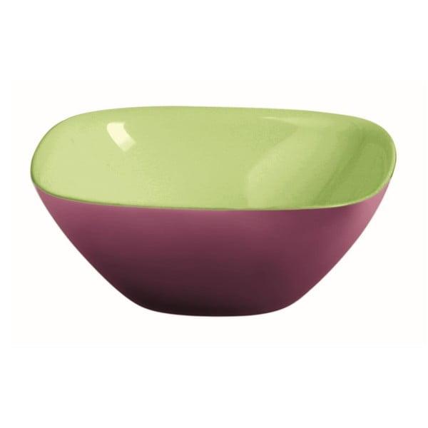Zielono-fioletowa miska Fratelli Guzzini Glam, 25 cm