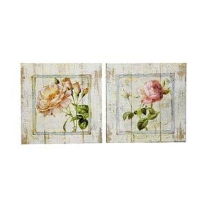 Zestaw 2 obrazów Wooden Rose