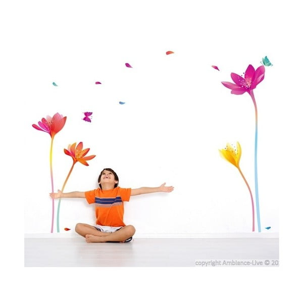 Zestaw naklejek Ambiance Rainbow Flowers