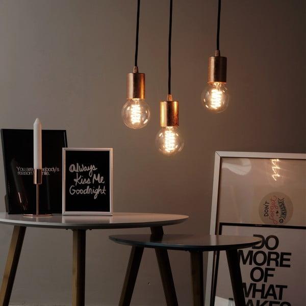 Czarno-złota potrójna lampa wisząca Bulb Attack