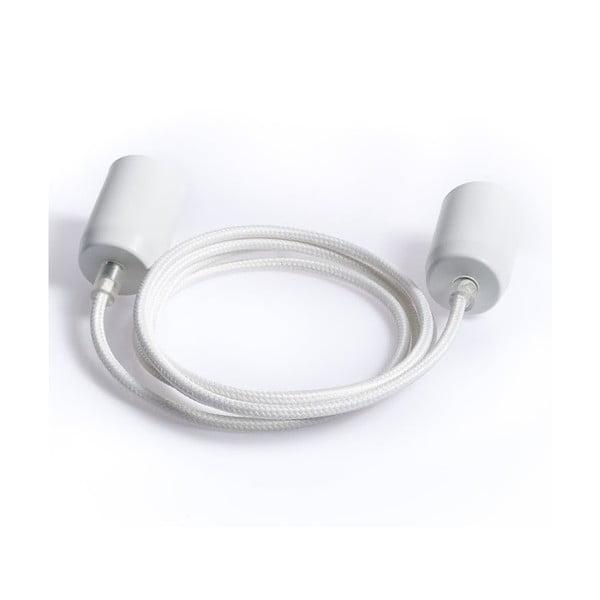 Kolorowy kabel Loft Metal, biały bez