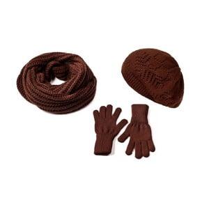 Zestaw czapki, szalika i rękawiczek Lavaii Charlotta