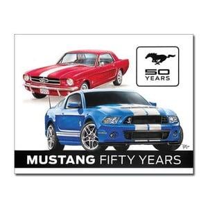 Blaszana tabliczka Mustang 50 Years, 30x40 cm