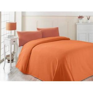 Pomarańczowa lekka narzuta Oranj, 200x230cm