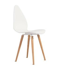 Białe krzesło Charlie Pommier Egg