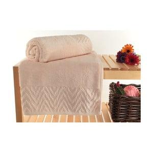 Zestaw 2 ręczników Kalp Light Brown, 90x150 cm