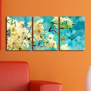 Obraz z zegarem Wiosenne Drzewo