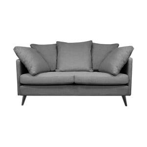 Ciemnoszara sofa 2-osobowa Helga Interiors Victoria