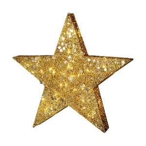 Dekoracja świecąca LED Best Season Golden Star, výška 70 cm