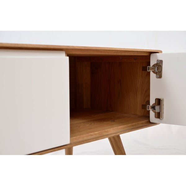 Dębowa ławka z szafką Gazzda Ena