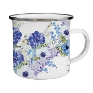Kubek emaliowany w niebieskie kwiaty TinMan, 200 ml