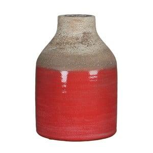 Czerwony wazon Mica Belinda, 25x17cm