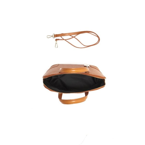 Skórzana torebka Renata Corsi 418 Cognac