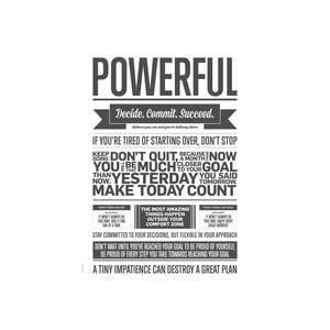 Plakat autorski Grey Powerful, A3