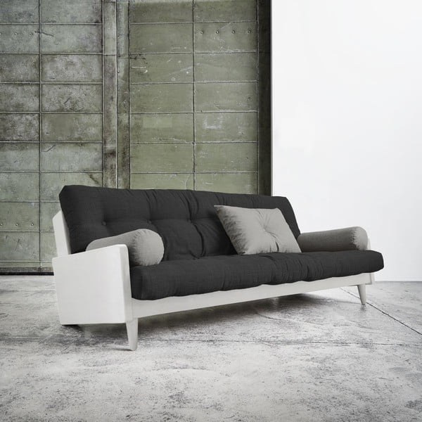 Sofa rozkładana Karup Indie White/Dark Grey/Granite Grey